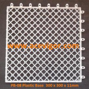 China PB-08 Plastic Base for DIY WPC deck tiles wholesale