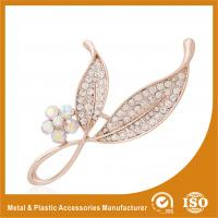China Anniversary / Wedding Fashion Jewelry Brooches , Small Crystal Brooches wholesale