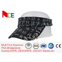 China Rubberized Silk Printed Sun Visors , Mens Beach Visor Running Street Style wholesale