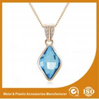 China Blue Crystal Silver Chain Necklace Powder Coating Surface Treatment wholesale