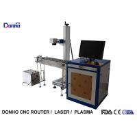 China Precise 20W Fiber Laser Marking Machine With Conveyor Belt Easy Operate wholesale