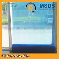 China Durable Temporary Glass Protection Film , Anti - Oil Blue Window Protection Film wholesale