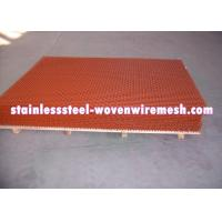 China Red Spray Paint Heavy Gauge Screen Mesh , Square Heavy Duty Metal Mesh Screen wholesale