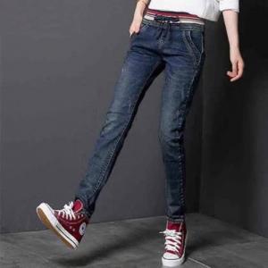 China Jeans Slim Elegant 98%Cotton & 2% Spandex Gray Light-Dark Navy Skinny wholesale