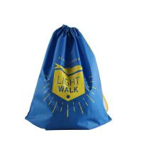 China Blue Households Products , Cinch Drawstring Bag With Floral Design Printing wholesale