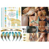 China Transformers Temporary Metallic Tattoo Stickers Custom Designs Bling Shiny wholesale