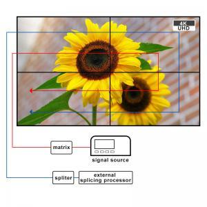 China 16.7M 46'' 4000:1 Multi Screen 4K Video Wall Display Bezel 1.7mm wholesale