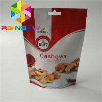 China Dry Nut Stand Up Pouch Packaging Eco - Friendly With Transparent Color wholesale