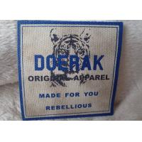 China High Density 3D Organic Canvas Screen Printing Label For Children'S Garments wholesale