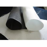 China White PTFE Coated Alkali / Non-Alkali Filter Fabric Roll 330 - 900gsm woven roving plain cloth wholesale