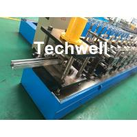 China 0-15m/min Cold Roll Forming Machine For Making Door Frame Guide , Shutter Door Slats Guide Rail wholesale