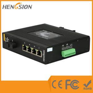 China Din Rail Gigabit Ethernet Switch , 1 Gigabit Fiber 5 Port Network Switch wholesale