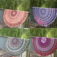 China Round Beach Throw Tapestry Hippy Boho Gypsy Cotton Tablecloth Beach Towel wholesale