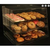 China 3 Trays Clear Pastry Acrylic Display Case , Bread Display Rack wholesale