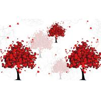 China Love Tree Bamboo Fiber Board Moisture Proof 3D 4D 5D Patterns 320cm X 200cm wholesale