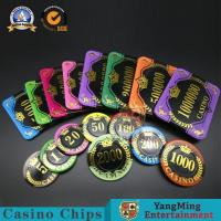 China Gambling RFID Code Square Poker Chips / Personalized Rectangle UV 12g Casino Acrylic Chips Set wholesale