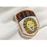 China Merrow Border Custom Stitched Patches , Clothing Iron On Embroidered Patches For T Shirts wholesale