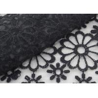 Quality Embroidered Dying Lace Fabric Floral Lace Organza Polyester Fabric For Dresses for sale