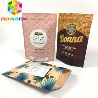 China Custom Printed Stand Up Zipper Pouch Bags Coffee Packaging Recyclable With Valve wholesale