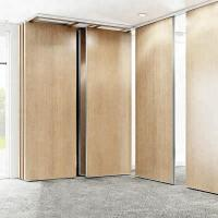 China Modular Hanging Folding Room Partitions MDF + Aluminum Material Sound Insulation on sale