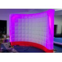 China 3 Meter Led Inflatable Wall 210 D Reinforce Oxford Material Logo Printing wholesale