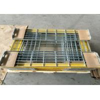 China T6 Steel Grating Stair Treads With Yellow Nonskid Nosing Low Carbon Steel wholesale