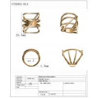 Buy cheap Hot sale thin pave fashion rings in 925 sterling silver with 18k gold palted from wholesalers