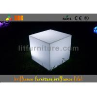Quality Waterproof Colorful LED Table And Chairs Cube Shape For Night Clubs And Party for sale