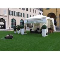 Buy cheap 3 / 8'' Flat Yarn Shape Backyard Outdoor Artificial Turf / Fake Grass Landscapin from wholesalers
