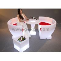 China Lightweight lighting LED Bar Chair Stools for Events with 16 colors changeable wholesale
