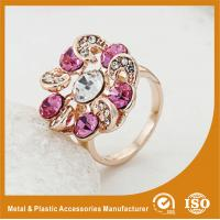 China Zinc Alloy High Fashion Jewelry Rings ,  Ladies Gold Rings With Colorful Zircon wholesale