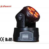 China Professional Dj Lighting Equipment , 5*15W RGBWA LED Mini Moving Head Wash Light   X-12 wholesale