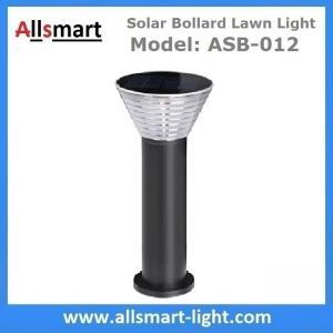 China 60cm/24inch Solar Bollard Lawn Lights Solar Yard Light Cement Bollard Solar Pathway Lamp Aluminum Black for Landscape wholesale