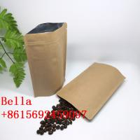 China High quality plastic stand up packaging bag kraft paper bag with valve for 250g,500g coffee beans the custom coffee bag wholesale