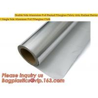 China Double side Aluminium foil backed fiberglass fabric attic radiant barrier cloth,aluminium foil woven cloth, bulding mate wholesale