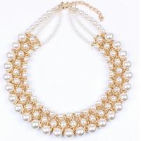 China popular ladies temperament wild section elegant imitation pearl necklace clavicle wholesale