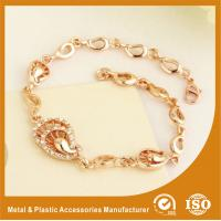 China Customized Rose Gold Metal Chain Bracelets Plating , Embossing wholesale