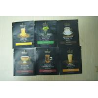China 3-side Coffee Bags Packaging Small Black Matte Finish Zipper wholesale