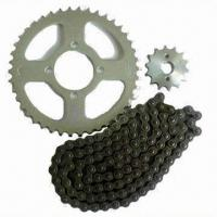 China Motorcycle chain and sprocket, customized requirements are accepted on sale