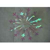 "Quality Christmas wrapping and Decorative 4"" Snowflake fireworks Bow with PVC Ribbon for sale"