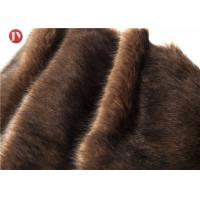 China Tip Dyed Plush Faux Fur Fabric Coffee With Black Tip Tissavel 100% Polyester on sale