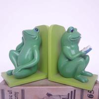 China Polyresin Book End/ Frogs Book ends wholesale