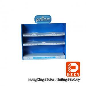 China Portable Colorful Corrugated Cardboard Displays Detachable Environmental Friendly wholesale