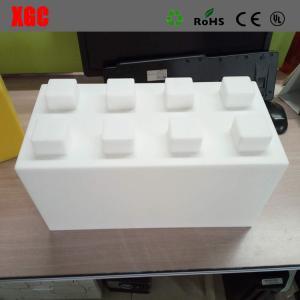 China PE / Plastic Outdoor Amusement Equipment Construction Building Blocks Toys Square Shape wholesale