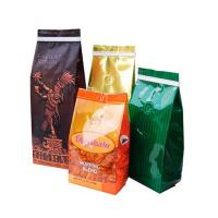 China Bottom Gusset Matt Mylar Snack Bag Packaging Aluminum Foil Coffee Bags With Valve wholesale