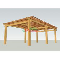 China Prefab Wood Plastic Composite Pergola  No Painting Antisepsis 8.3m X 5m For Garden wholesale