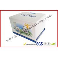 China Fashion Coated Paper Board Box, Rectangle Printed Rigid Gift Boxes For With Custom Logo for sale