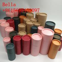 Colored Handmade Paper Box Packaging 350g Thickness With Round Shape