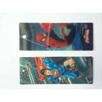 China Custom Plastic 3D Lenticular Bookmarks Printing With 3D Effect CMYK Printing wholesale