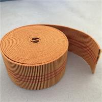 China 60mm Orange Color Outdoor Furniture Webbing 20%-30% Elongation With 3 Red Lines wholesale
